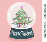 colorful christmas poster with...