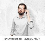 happy young man with mobile   Shutterstock . vector #328807574