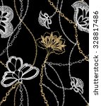 repeat pattern with chains and... | Shutterstock . vector #328817486