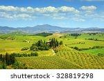 Tuscany  Farmland And Cypress...
