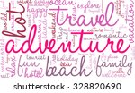 adventure word cloud on a white ... | Shutterstock .eps vector #328820690