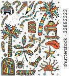set of colorful cartoon design... | Shutterstock . vector #32882323