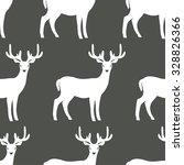 seamless pattern of deers....   Shutterstock .eps vector #328826366