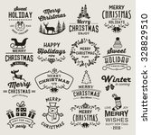 christmas design elements ... | Shutterstock .eps vector #328829510