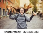 Happy Young Smiling Woman...