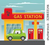petrol gas station concept in... | Shutterstock .eps vector #328833146