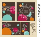 set of floral backgrounds. hand ... | Shutterstock .eps vector #328836359