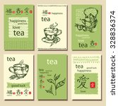 vector set. vintage cards with...   Shutterstock .eps vector #328836374
