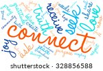 connect word cloud on a white... | Shutterstock .eps vector #328856588