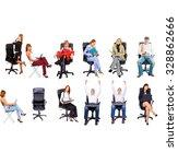 standing together people... | Shutterstock . vector #328862666