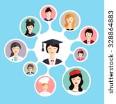 graduation female student make... | Shutterstock .eps vector #328864883