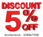3d illustration   discount 5... | Shutterstock . vector #328867208