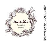 hand drawn vegetables... | Shutterstock .eps vector #328868804