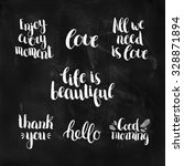 set of inspirational and... | Shutterstock .eps vector #328871894