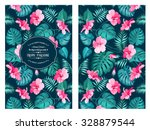 Tropical Flower Pattern On The...