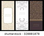 set of vector flourish banner... | Shutterstock .eps vector #328881878