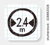 maximum vehicle length doodle | Shutterstock .eps vector #328882028