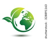 green earth concept with leaves ... | Shutterstock .eps vector #328891163