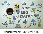 big data concept with a cup of... | Shutterstock . vector #328891748