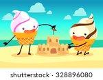 illustration of ice cream cones ... | Shutterstock .eps vector #328896080