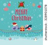 vintage christmas poster design | Shutterstock .eps vector #328901078
