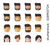 people face character. | Shutterstock .eps vector #328903724