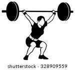 weight lifting | Shutterstock . vector #328909559
