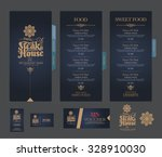 vector restaurant menu template. | Shutterstock .eps vector #328910030