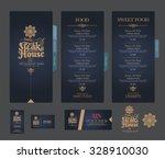 vector restaurant menu template. | Shutterstock .eps vector #328910030
