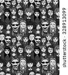 girls and women crowd   cartoon ... | Shutterstock .eps vector #328913099