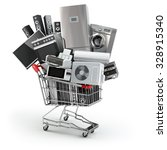home appliances in the shopping ... | Shutterstock . vector #328915340