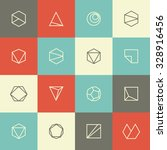 collection of colorful square... | Shutterstock .eps vector #328916456