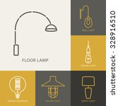 collection of lamps icons for... | Shutterstock .eps vector #328916510