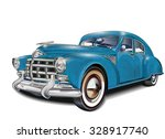 retro car. | Shutterstock .eps vector #328917740