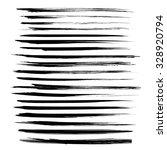 black long strokes isolated on... | Shutterstock .eps vector #328920794