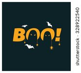 halloween boo party poster... | Shutterstock .eps vector #328922540