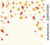 autumn falling leaves. vector... | Shutterstock .eps vector #328923584