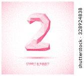 number 2 from stipple alphabet  ... | Shutterstock .eps vector #328924838