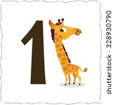 animal numbers for kids  1... | Shutterstock .eps vector #328930790