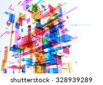 abstract modern blue wall of... | Shutterstock .eps vector #328939289