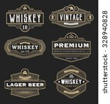 vintage frame design for labels ... | Shutterstock .eps vector #328940828