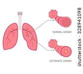 vector asthma illustration ... | Shutterstock .eps vector #328941098