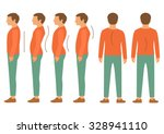 scoliosis  lordosis spine... | Shutterstock .eps vector #328941110