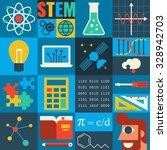 illustration of stem education... | Shutterstock .eps vector #328942703