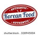 korean food grunge rubber stamp ... | Shutterstock .eps vector #328945004