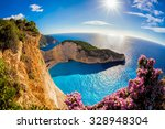 navagio beach with shipwreck... | Shutterstock . vector #328948304