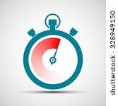logo stopwatch. flat design....   Shutterstock .eps vector #328949150