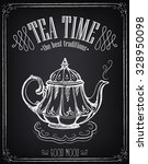 illustration tea time with... | Shutterstock .eps vector #328950098