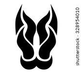 tattoo tribal vector design... | Shutterstock .eps vector #328954010