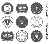 vintage emblems  labels. drinks ... | Shutterstock .eps vector #328955120